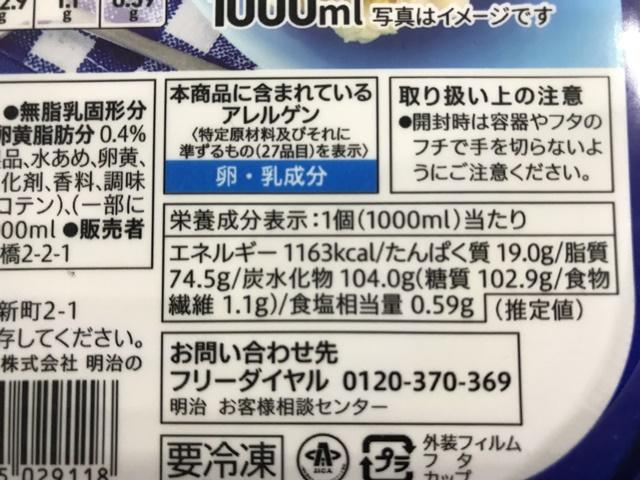 セブンプレミアム:北海道産乳製品使用 北海道バニラ 原材料一覧
