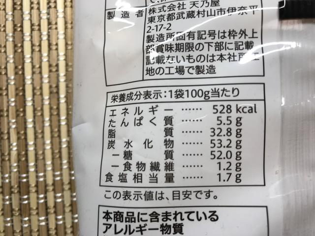 セブンプレミアム:サクッとした食感のひとくち歌舞伎揚 成分表